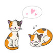 Cute cartoon cats.