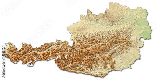 relief map of austria kaufen sie diese illustration und. Black Bedroom Furniture Sets. Home Design Ideas
