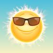 Sun in sunglasses illustration