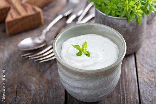 Fotografie, Obraz  Horseradish and cream sauce