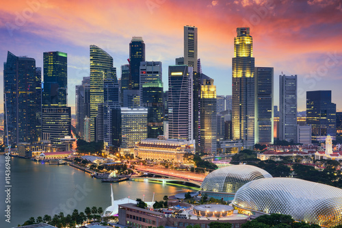 Foto op Canvas Singapore Singapore City Skyline