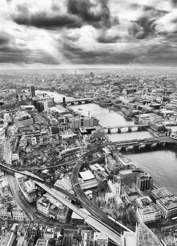Fotografering  London skyline, Black and White