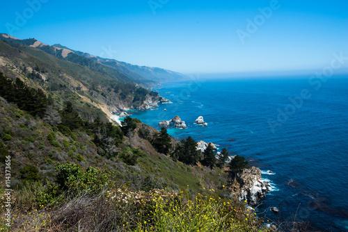 In de dag Canarische Eilanden Scenic View of the California Coastline Pacific Highway 1
