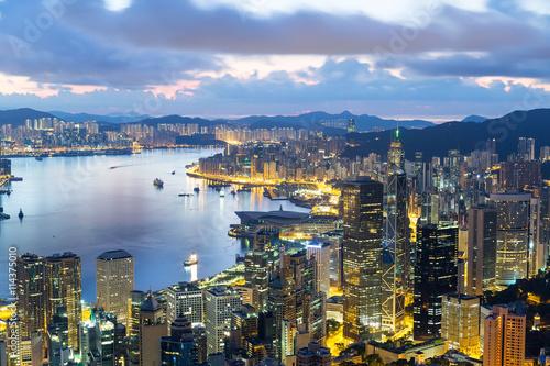 Photo  Hong Kong sunrise