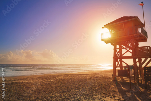 Photo Daytona Beach in Florida baywatch tower USA
