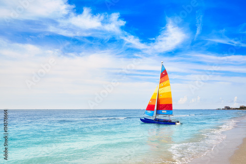 Florida fort Myers beach sailboat in USA Wallpaper Mural