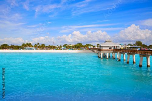 Obraz na plátně  Florida Fort Myers Pier beach US