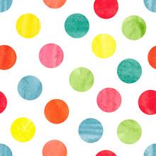 Watercolor Colorful Polka Dot ...