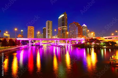 Fotomural  Florida Tampa skyline at sunset in US
