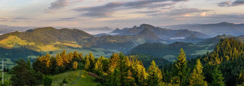 Obraz Landscape in Pieniny panorama fototapeta, plakat