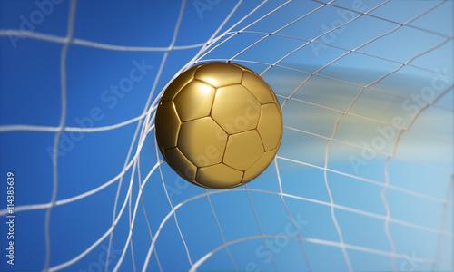 Goldener Ball Im Tornetz Buy This Stock Illustration And