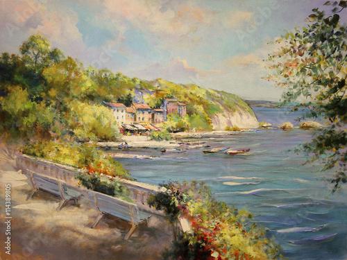malowanie-motyw-seascape-retro