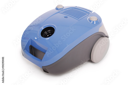 Fotobehang Cars Blue vacuum cleaner (Clipping path)
