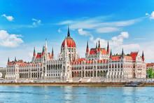 Hungarian Parliament At Daytim...
