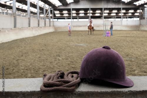 Fotobehang Paardrijden Bombe d'équitation