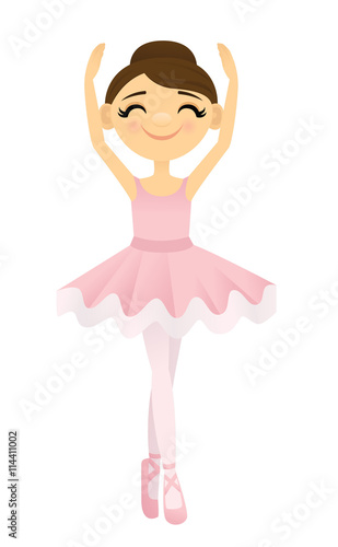 Photo  Smiling ballerina with her arms raised