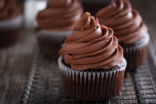 Chocolate Cupcakes With Whippe...