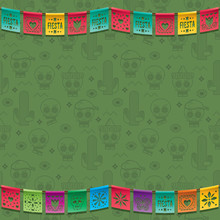 Mexican Bunting Decoration