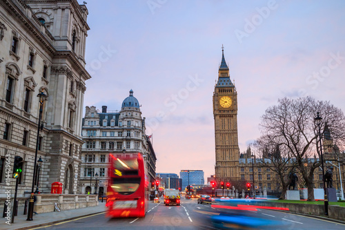 Fototapeta Big Ben and Houses of parliament at twilight