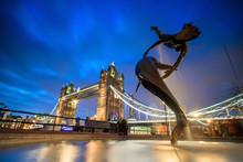 London Skyline With Tower Bridge At Twilight