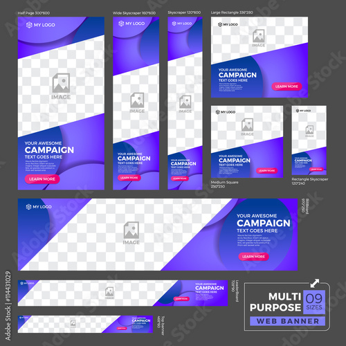 multipurpose ad banner design template  standard size web