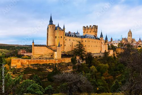 fototapeta na ścianę View of Alcazar of Segovia