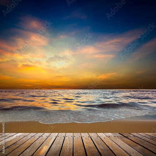 Foto op Plexiglas Caraïben Sunset at beach