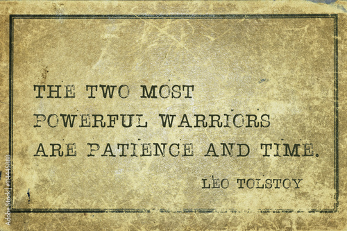 Canvastavla patience time Tolstoy