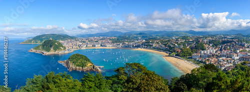 Fotografie, Tablou Panoramic view of San Sebastian in Spain