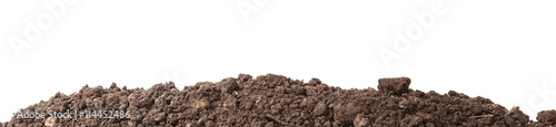 Fotomural  the soil for planting isolated on white background