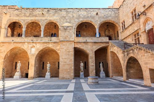 fototapeta na drzwi i meble Historic Palace of the Grand Master of the Knights of Rhodes.