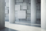 Blank patterned wall