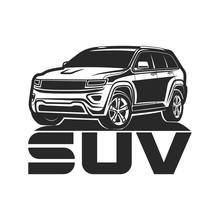 Suv Car Icon Logo Design