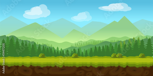 Photo  forest game background 2d  application