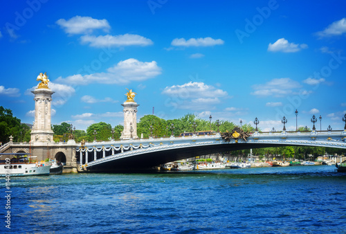 Foto op Plexiglas Historisch geb. Bridge of Alexandre III in Paris, France