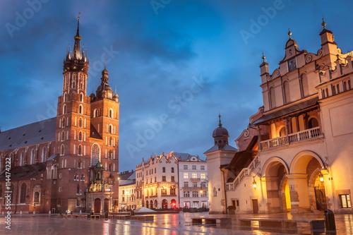 Poster Cracovie Krakow Market Square