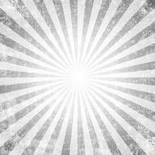 Grunge Style Abstract Starburst & Sunburst Background.