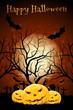 Leinwandbild Motiv Halloween Zombie Party Poster. Holiday Card.