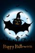 Leinwandbild Motiv Grunge Halloween Party Background