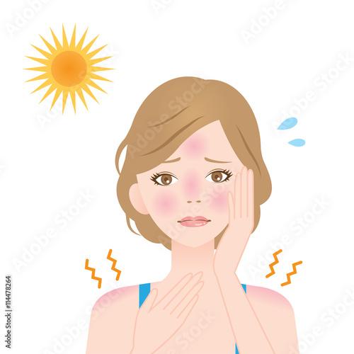 日焼け 女性