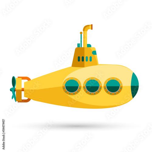 Láminas  Yellow Submarine with periscope