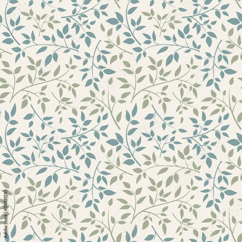 Canvas Print Seamless floral pattern.