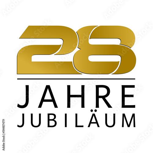 Fototapeta  Einfach Gold Jubiläums Logo Jahre 28