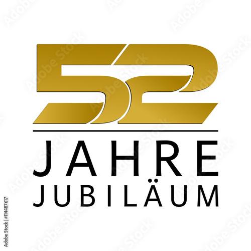 Fotografía Einfach Gold Jubiläums Logo Jahre 52