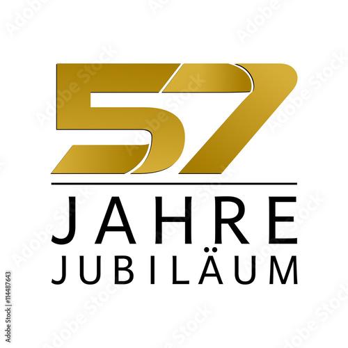 Valokuva Einfach Gold Jubiläums Logo Jahre 57