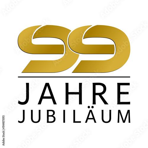 Einfach Gold Jubiläums Logo Jahre 99 Poster