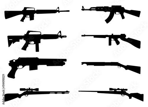 Valokuvatapetti Gun Rifle Icon Silhouette