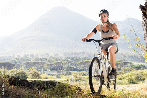Plakat Maure woman cycling