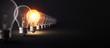 Leinwandbild Motiv Glowing Light Bulb