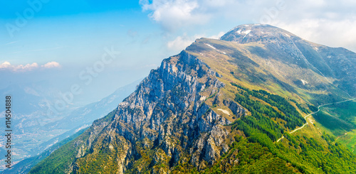Picturesque view from monte baldo mountain to altissimo Wallpaper Mural
